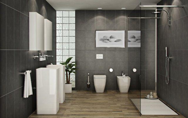 7 idées pour aménager une douche pratique et fonctionnelle ... - Salle De Bain Moderne Avec Douche Italienne