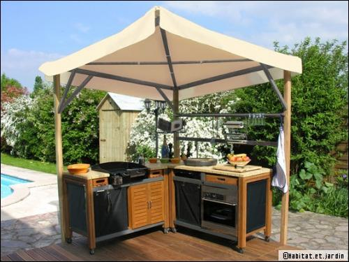 Cuisine exterieure photo cuisine d ete exterieur as well - Idee amenagement cuisine d ete ...