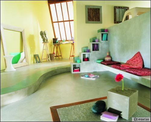 Beton In Interieur : Béton coloré: de la couleur dans votre intérieur travaux.com