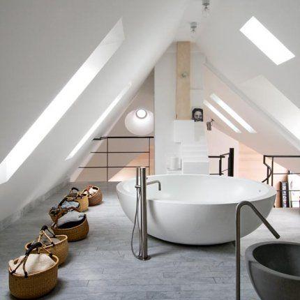 Amenager Une Salle De Bains Sous Les Toits
