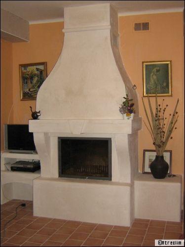 Chemin es fermer un foyer ouvert c 39 est possible - Peinture pour hotte de cheminee ...