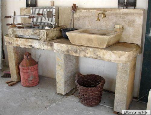 Am nager une cuisine d 39 t conseils et id es for Evier exterieur en pierre