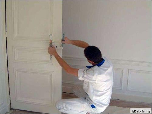 travaux de peinture les tapes du chantier. Black Bedroom Furniture Sets. Home Design Ideas