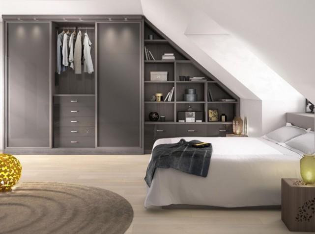 am nager un dressing en sous pente mode d 39 emploi. Black Bedroom Furniture Sets. Home Design Ideas