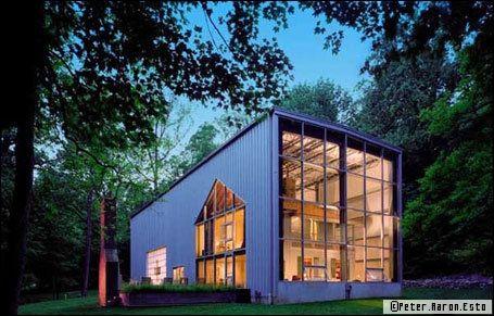 Zoom sur la maison loft for Renovation hangar en habitation