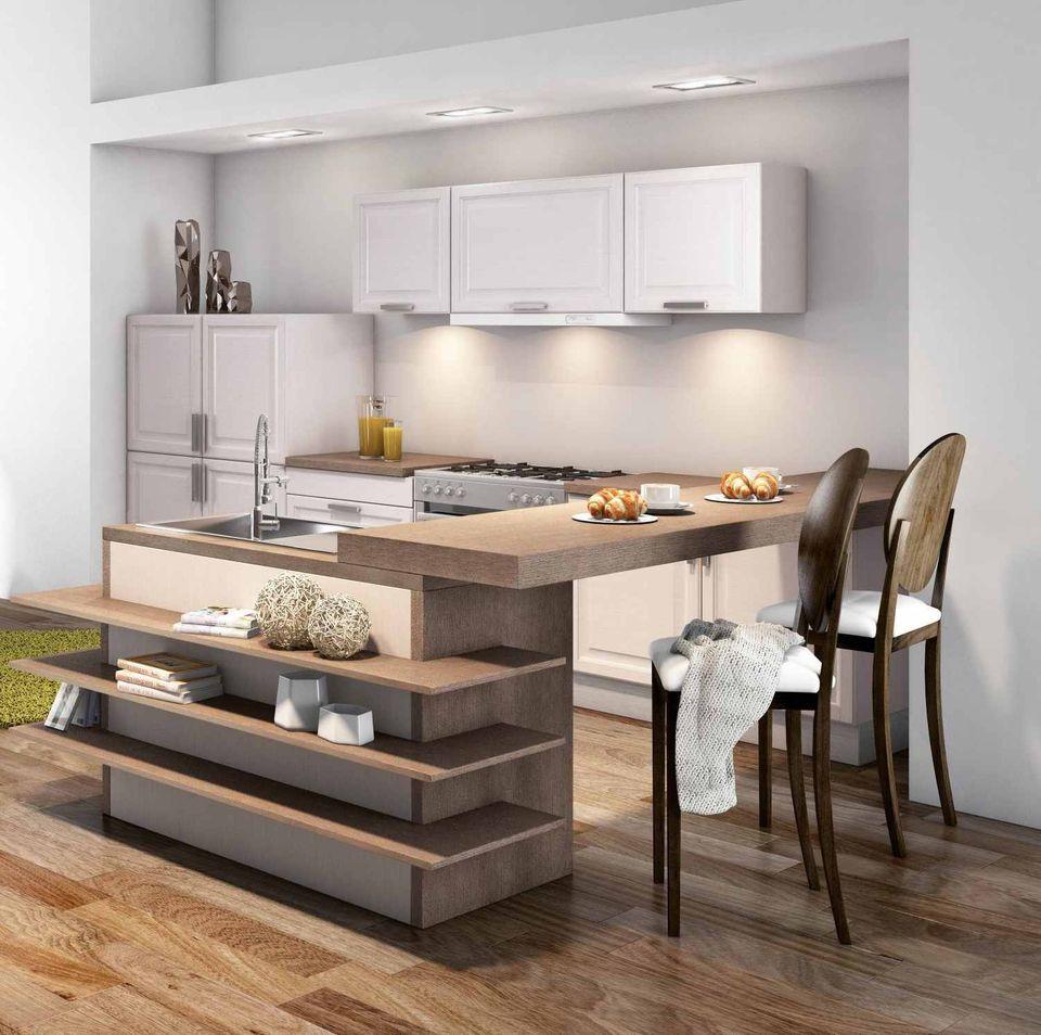Exemple cuisine americaine: amenager une cuisine ouverte sur salle ...