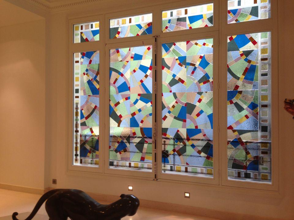 Le vitrail une oeuvre d 39 art sophistiqu e la port e de tous - Porte d entree avec vitrail ...