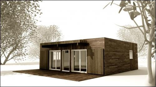 Une maison individuelle pr fabriqu e construite en alsace for Maison prefabriquee kit