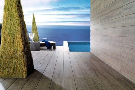 3 terrasses chics pour un effet choc for Porcelanosa carrelage exterieur imitation bois