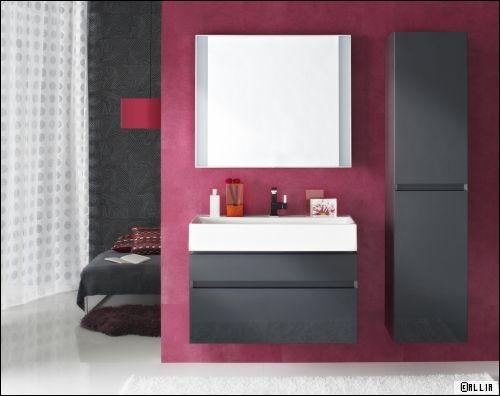 une salle de bains dans la chambre. Black Bedroom Furniture Sets. Home Design Ideas