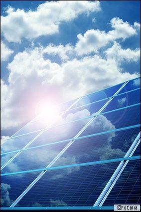 panneaux photovoltaiques nuage
