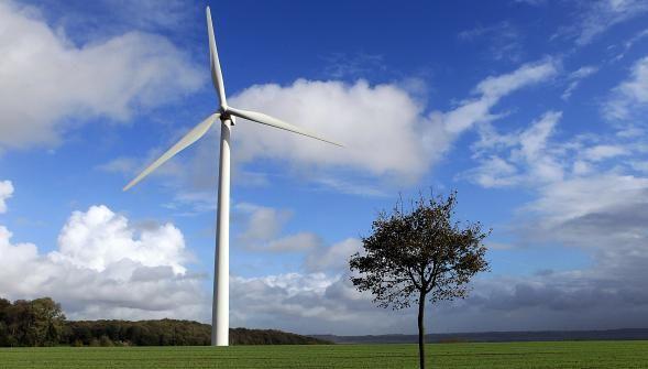 Pose d'une éolienne