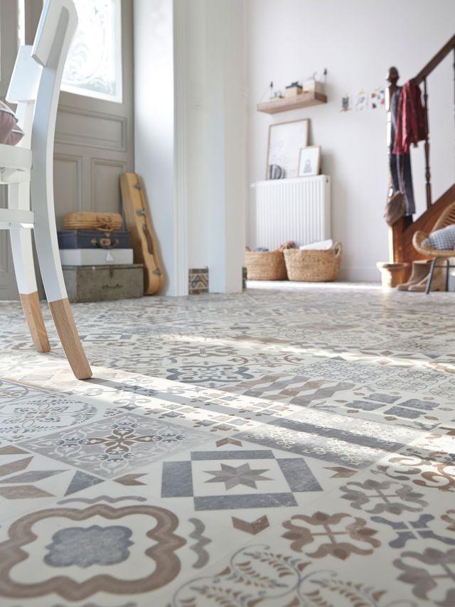 Sol vinyle adhesif imitation carreaux de ciment Almeria Natural Tarkett