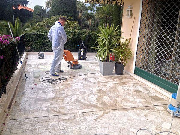 Rénovation terrasse en pierre
