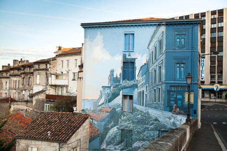 fresque mural exterieure