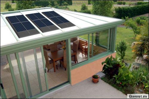 Véranda photovoltaïque: la nouvelle véranda écolo - Travaux.com