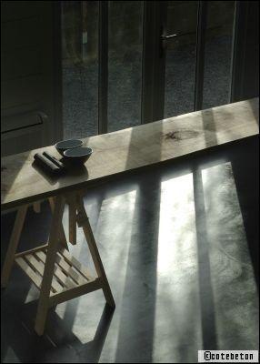 beton ciré sol