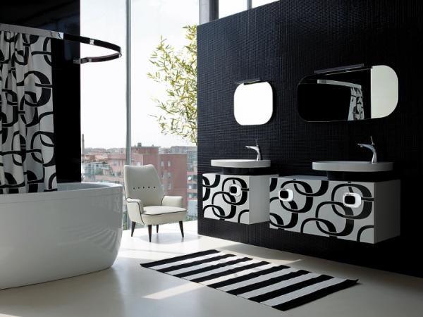 Salle de bains noire ©Delpha