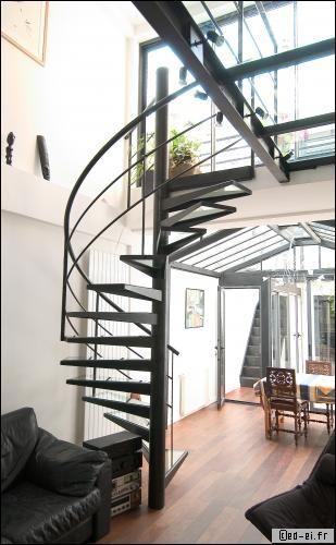 Escalier Interieur Maison Moderne prix d'un escalier en métallique - travaux