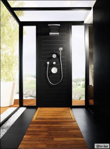 Receveur extra plat une douche italienne conomique sans gros travaux trav - Receveur douche en bois ...