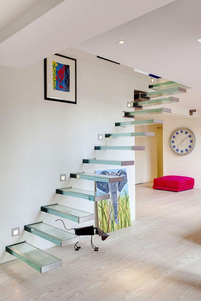 Escalier marche en verre picslovin