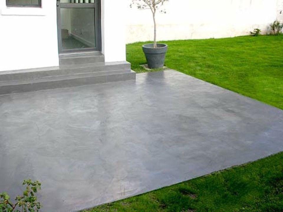 terrasse beton decoratif